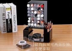 Rotabable acrylic display shelves for