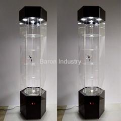 Big LED acrylic display cabinet vine
