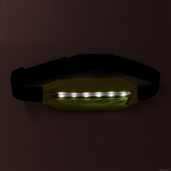 New products attractive LED style outdoor running sport waist bag
