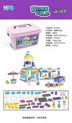 Colorful Building Blocks Bucket Storage Toys