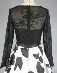 Women's Classy Vintage Long Sleeve Swing Dress