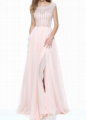 Formal Sweetheart Illusion Neckline Evening Dress
