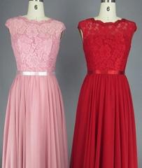 Sleeveless Lace V Back Evening Dress