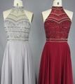 Latest Fashion Chiffon Sequined Beading Prom Dresses 3