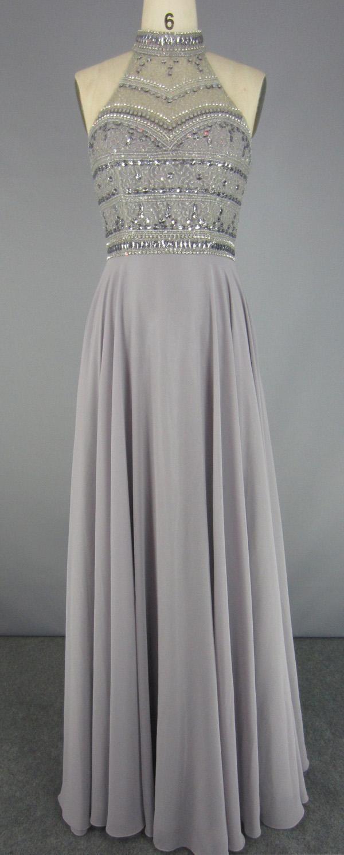 Latest Fashion Chiffon Sequined Beading Prom Dresses 2