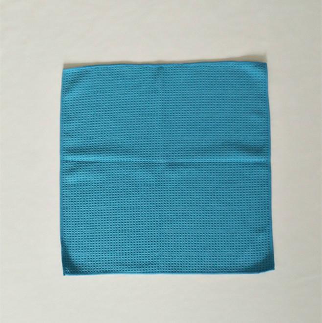 Wholesale high quality car towel microfiber waffle car cleaning towel 3