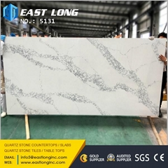 Quartz stone slabs for kitchen countertops