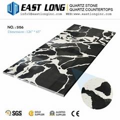 Calacatta quartz slabs for kitchen countertops