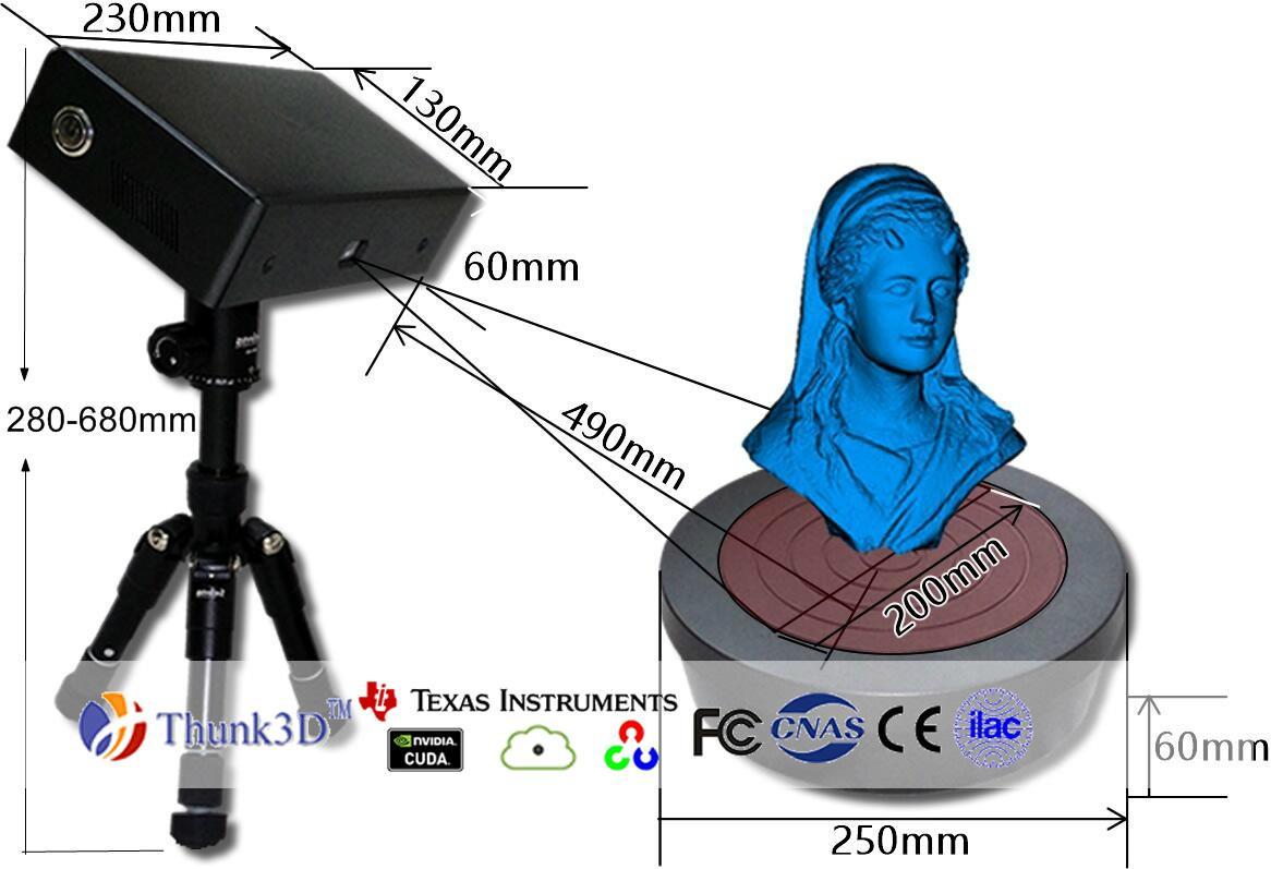 迅恆3D掃描儀3D建模掃描儀桌面便攜掃描儀 4