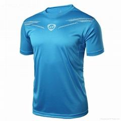 Customised running quick dry sports short sleeve footbale men's t shirts