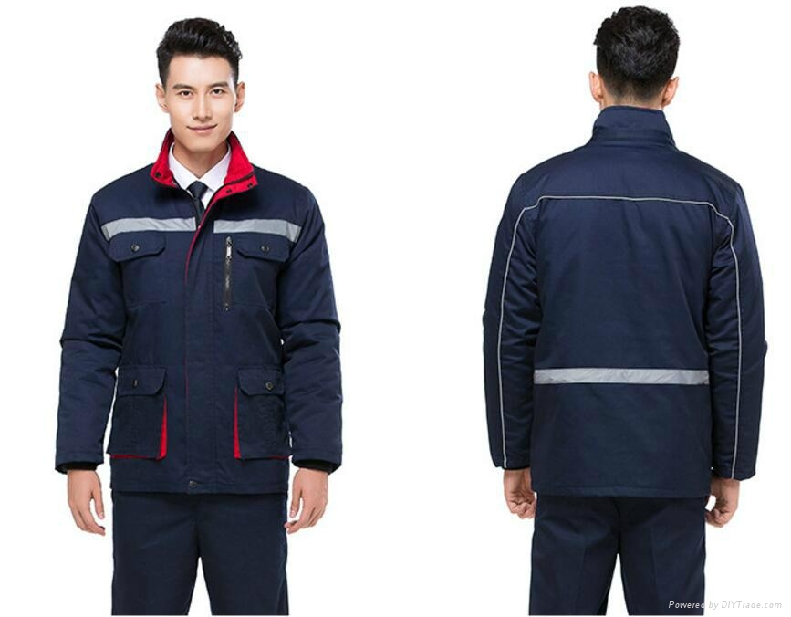 windproof and waterproof uniform with embroidery safety suits 3