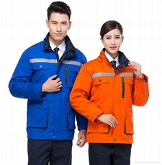 windproof and waterproof uniform with embroidery safety suits
