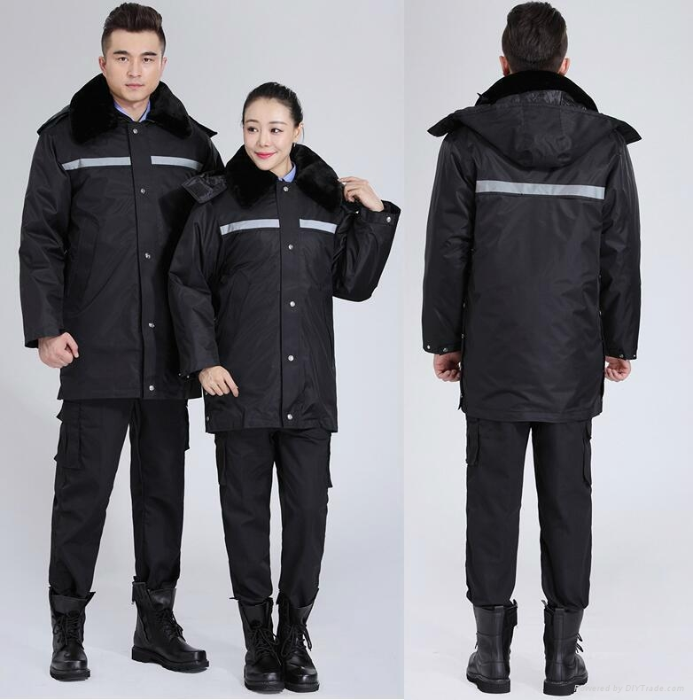 winter padded jacket cap workwaear or uniform protective safety suits 1
