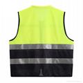 factory wholsale cheap net and  front pocket reflective safty vest 2