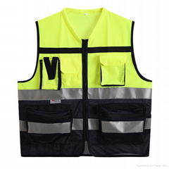 factory wholsale cheap net and  front pocket reflective safty vest