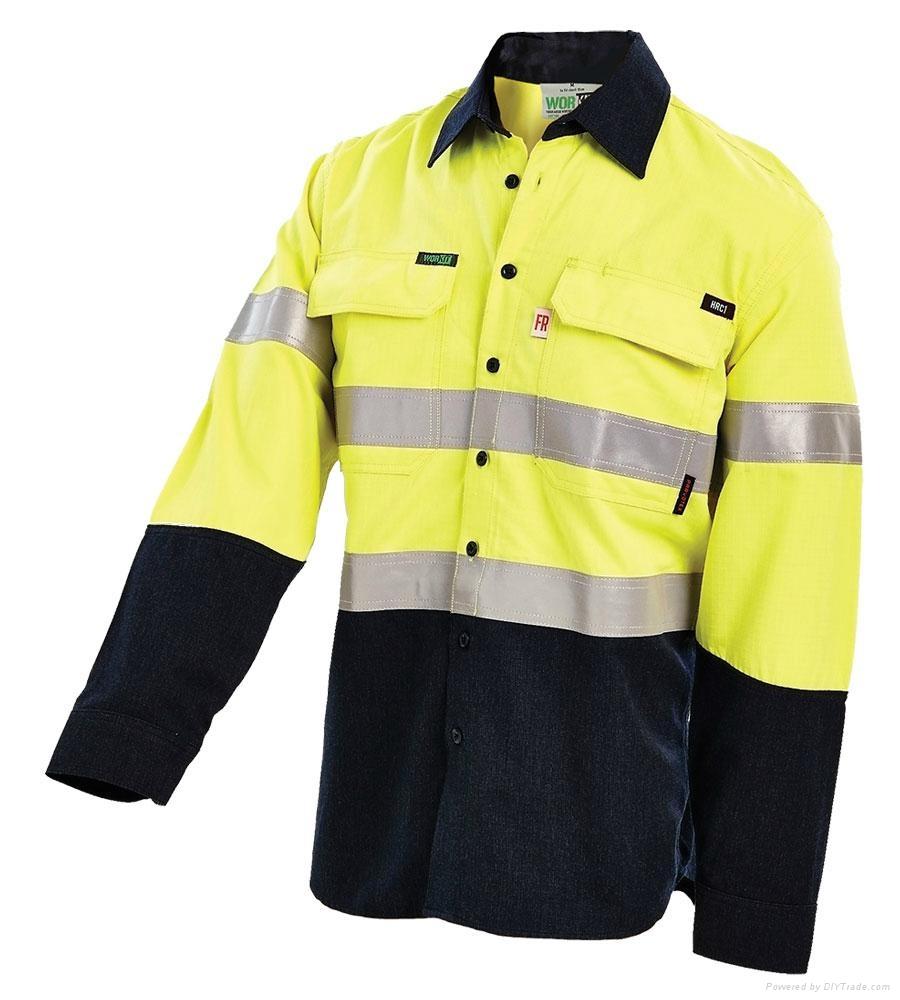Hot sale newest safety reflective strip combination staff uniform or workwear  1