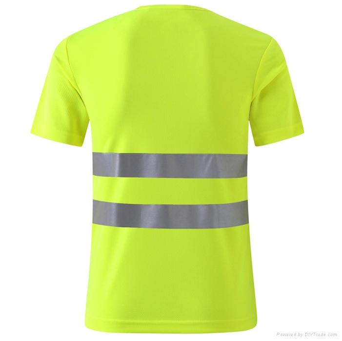 o neck short sleeve safety T shirtshigh visible uniform or workwear 2