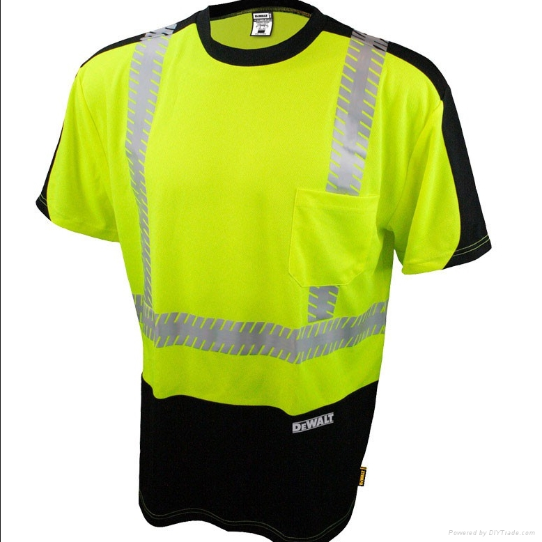 o neck short sleeve safety T shirtshigh visible uniform or workwear 3