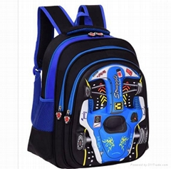 16 inch 3D EVA backpack School bag  Cool car shape boy school bag from factory