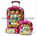 3-in-1 trolley wheeled school bag set with lunch box and pencil case 1