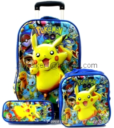 3-in-1 trolley wheeled school bag set with lunch box and pencil case 2