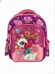Girl beautiful school bag, school backpack bag, children's bag for students