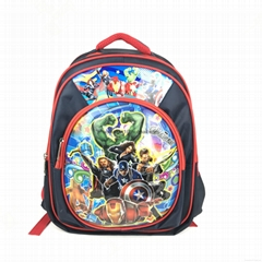 15 inch school bag school backpack children bookbag satin material