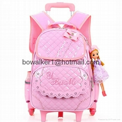 Trolley School Bag PU Fi