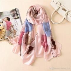 女士围巾时尚印花高品质真丝围巾