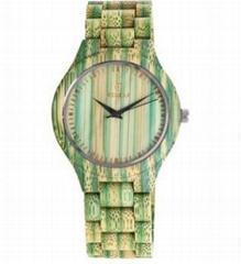 綠色木質手錶可愛