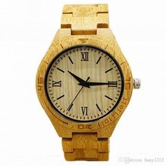 奢侈高檔木質手錶木色