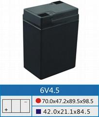 6V4.5厂家直销铅酸蓄电池壳