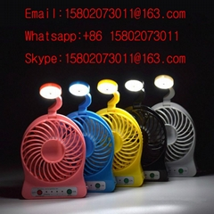 Portable table lamp rechargeable mini fans with LED Lights