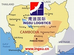 truck freight DDP from China to Cambodia(INGSU)