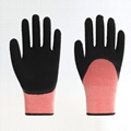 Polyester Liner Foam Latex Coating Working Gloves 4