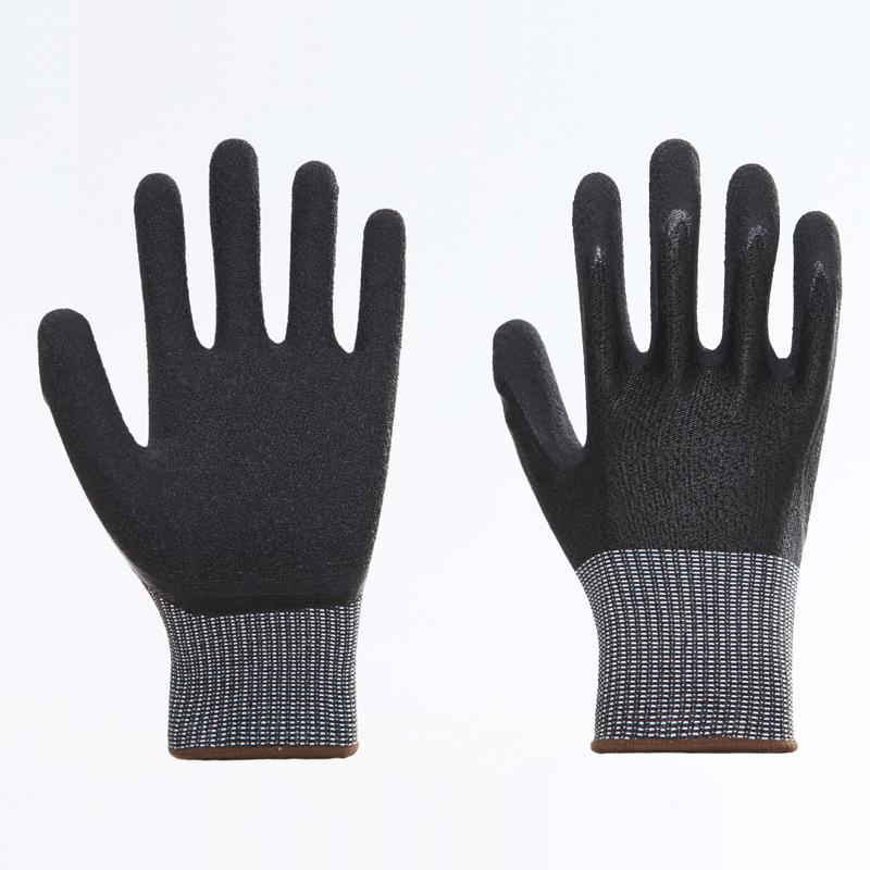 Latex Palm Coating Crinkle Working Safety Gloves 4