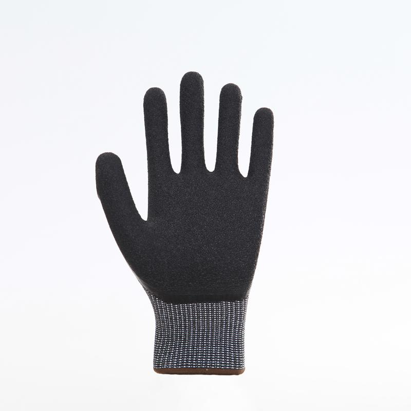 Latex Palm Coating Crinkle Working Safety Gloves 3