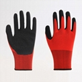 Nylon Liner Latex Coating Crinkle Working Gloves 5