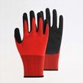Nylon Liner Latex Coating Crinkle Working Gloves 4