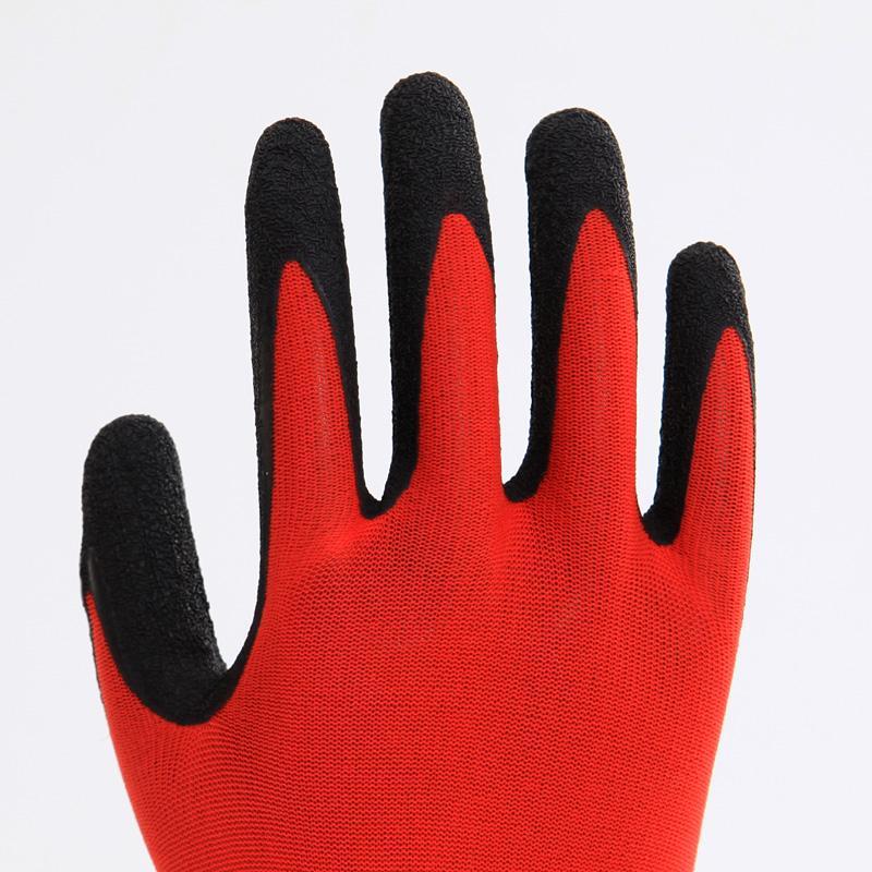 Nylon Liner Latex Coating Crinkle Working Gloves 3