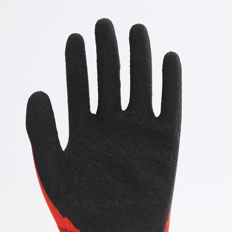 Nylon Liner Latex Coating Crinkle Working Gloves 2