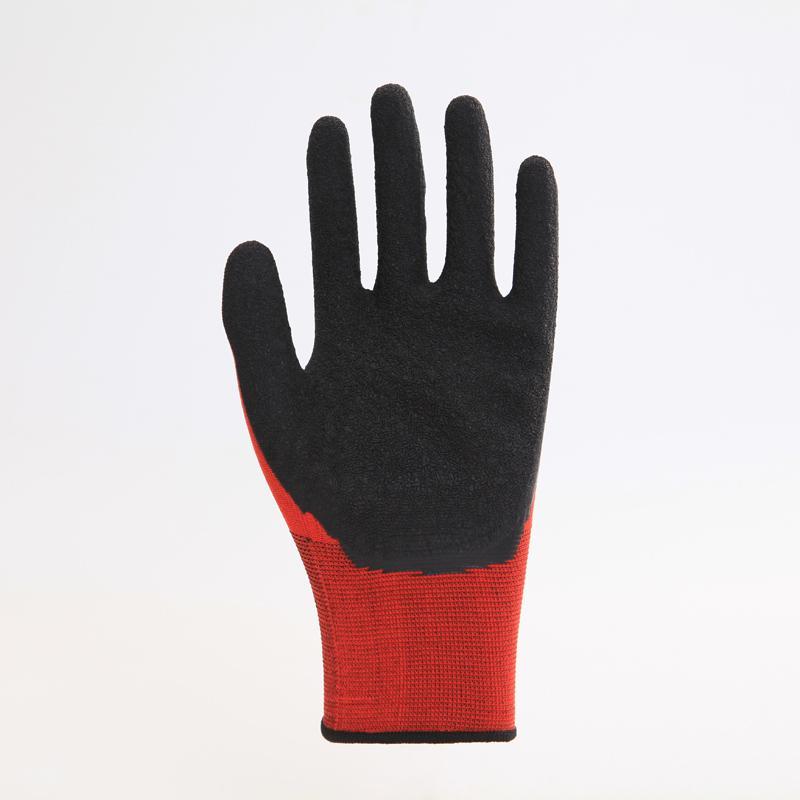 Nylon Liner Latex Coating Crinkle Working Gloves 1
