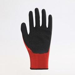 Nylon Liner Latex Coating Crinkle Working Gloves