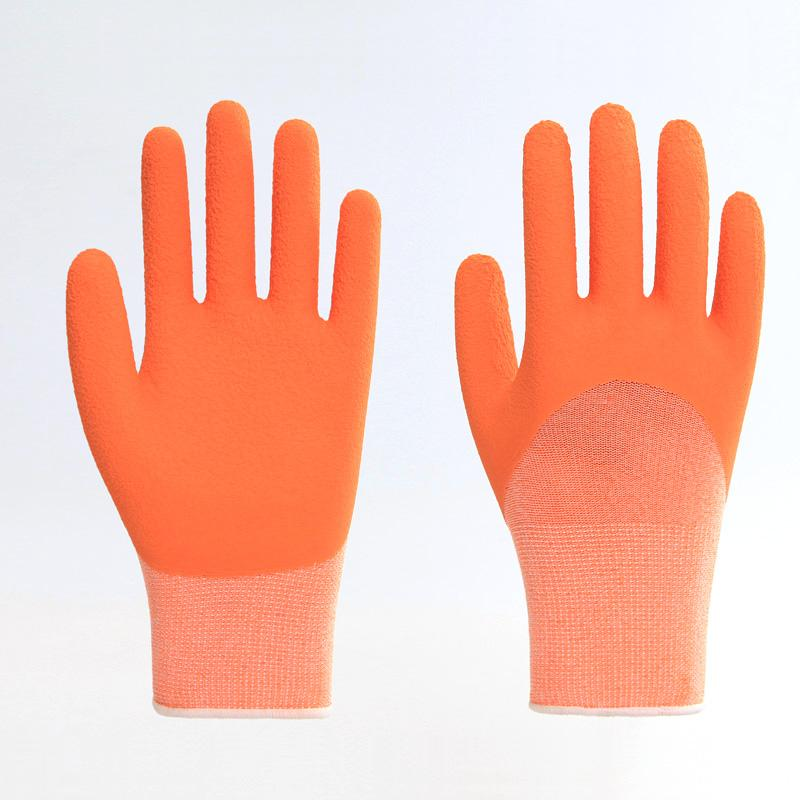 Best Price Abrasion Resistance Yellow Latex Gloves 5