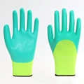 Best Price Abrasion Resistance Yellow Latex Gloves 3