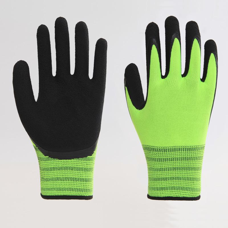 Best Price Abrasion Resistance Yellow Latex Gloves 1