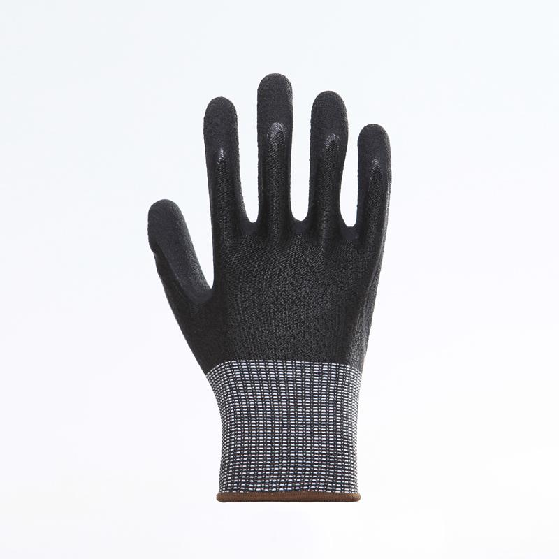 Nature Cow Grain Leather Working Safety Gloves 5
