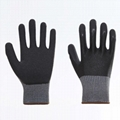 Nature Cow Grain Leather Working Safety Gloves 2