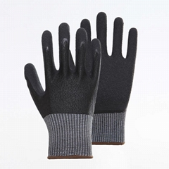 Nature Cow Grain Leather Working Safety Gloves