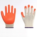 Cotton Liner Latex Coating Safety Working Gloves 5